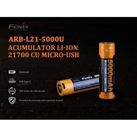 Fenix 21700 ARB-L 21-5000U 5000mAh rechargeable battery