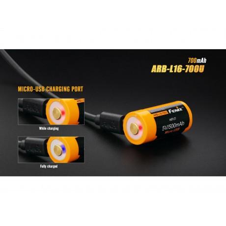 Fenix 16340 ARB-L16-700U 700mAh rechargeable battery