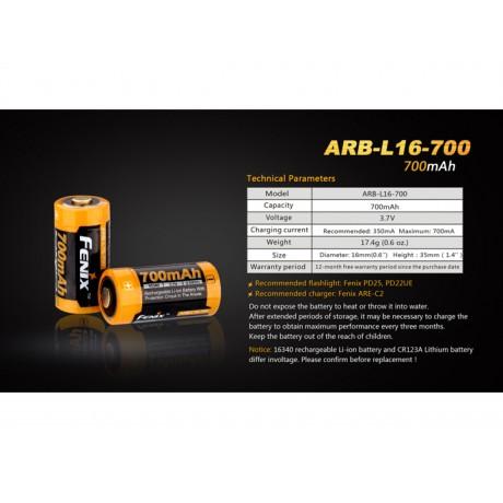 Acumulator Fenix 16340 ARB-L16-700 700mAh