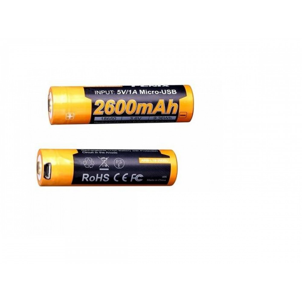 Fenix 18650 ARB-L18-2600U 2600mAh rechargeable USB battery