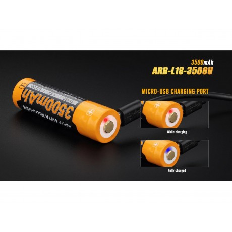 Fenix 18650 ARB-L18-3500U 3500mAh rechargeable battery