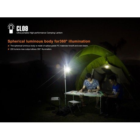 Fenix CL09 camping flashlight