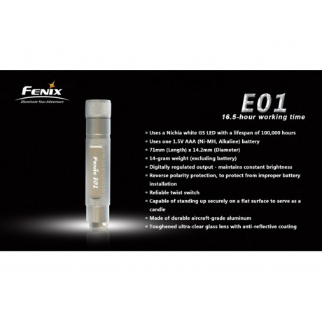 Fenix E01 daily flashlight