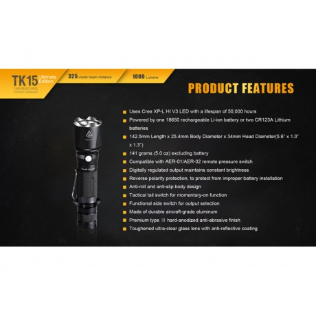 Fenix TK15UE professional torch