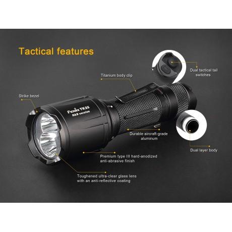 Fenix TK25 led flashlight red & blue version