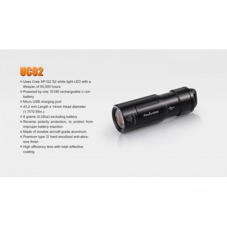 Fenix UC02 keyring flashlight