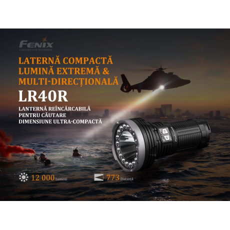 Lanterna cu led profesionala Fenix LR40R